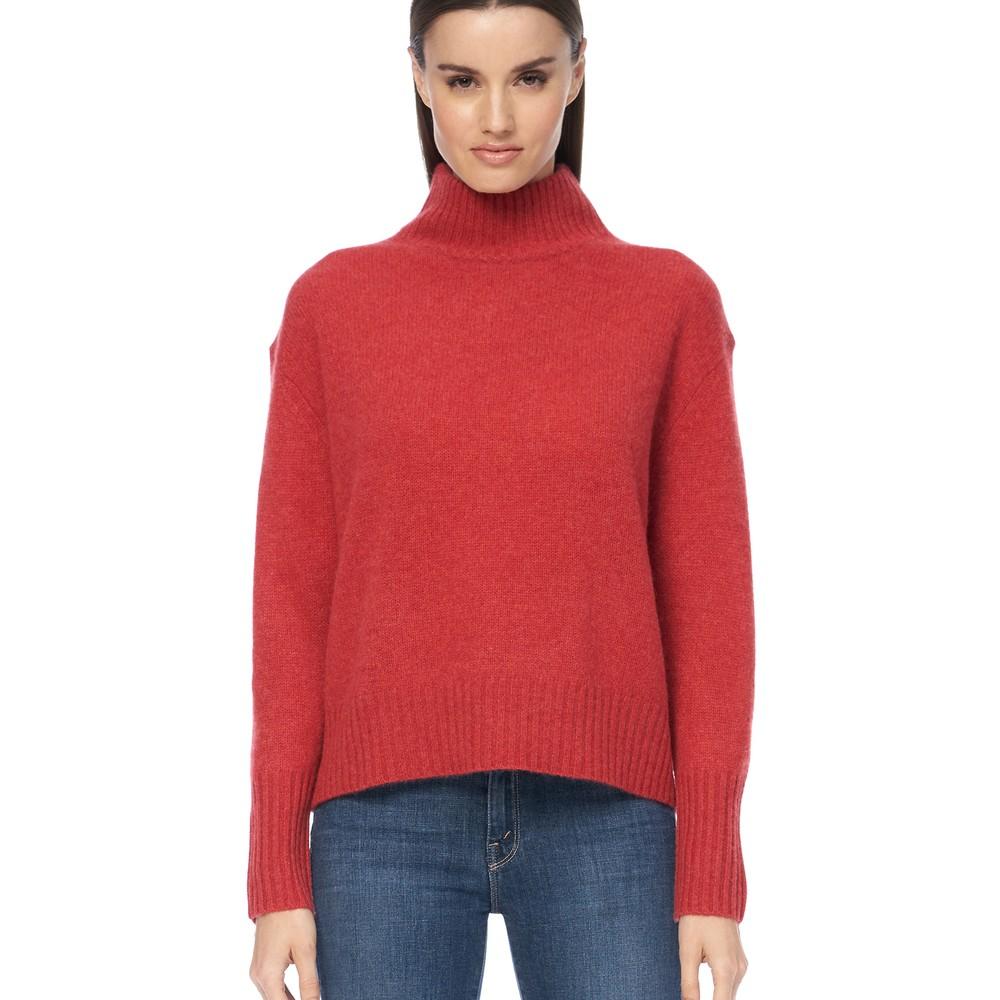 360 Sweater Lyra High Neck Jumper Garnet