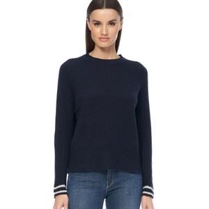 Chriselle Stripe Cuff Jumper Navy/Chalk