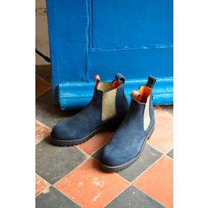 Penelope Chilvers Nelson Suede Boots Navy/Gold