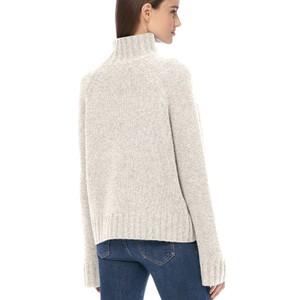 360 Sweater Leighton Hi Nk Loose Slv Knit Chalk