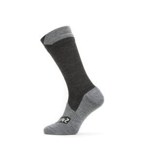 All Weather Mid Socks Black/Grey Marl