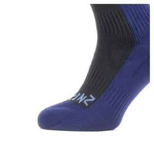 Sealskinz Cold Weather Knee Socks Black/Navy Blue
