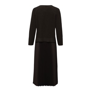Riani Pleat Skirt Jumper Layer Dress Black