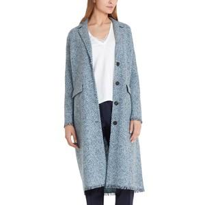 Herringbone Long Coat Celeste