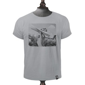 Plane Paper T Shirt Highrise Grey