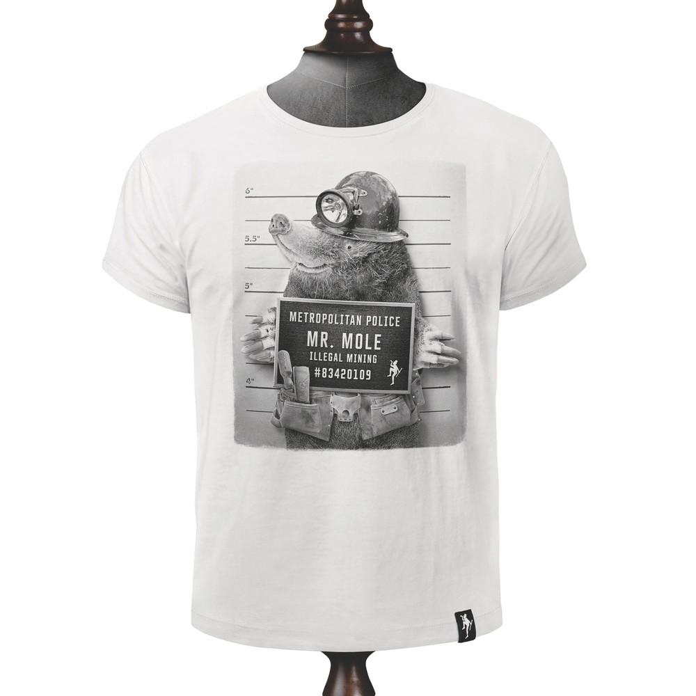 Dirty Velvet Mr Mole T Shirt Vintage White