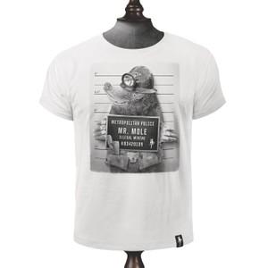 Mr Mole T Shirt Vintage White