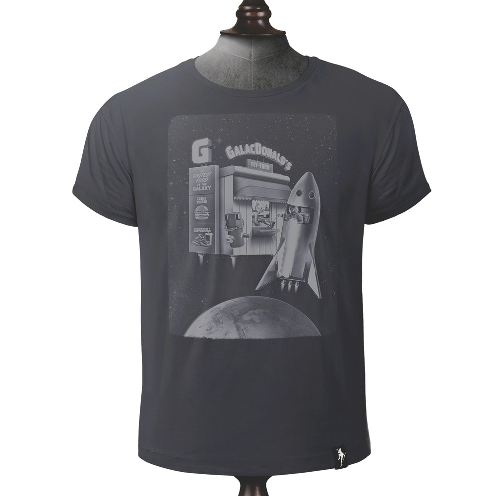 Dirty Velvet Fly Thru T Shirt Charcoal