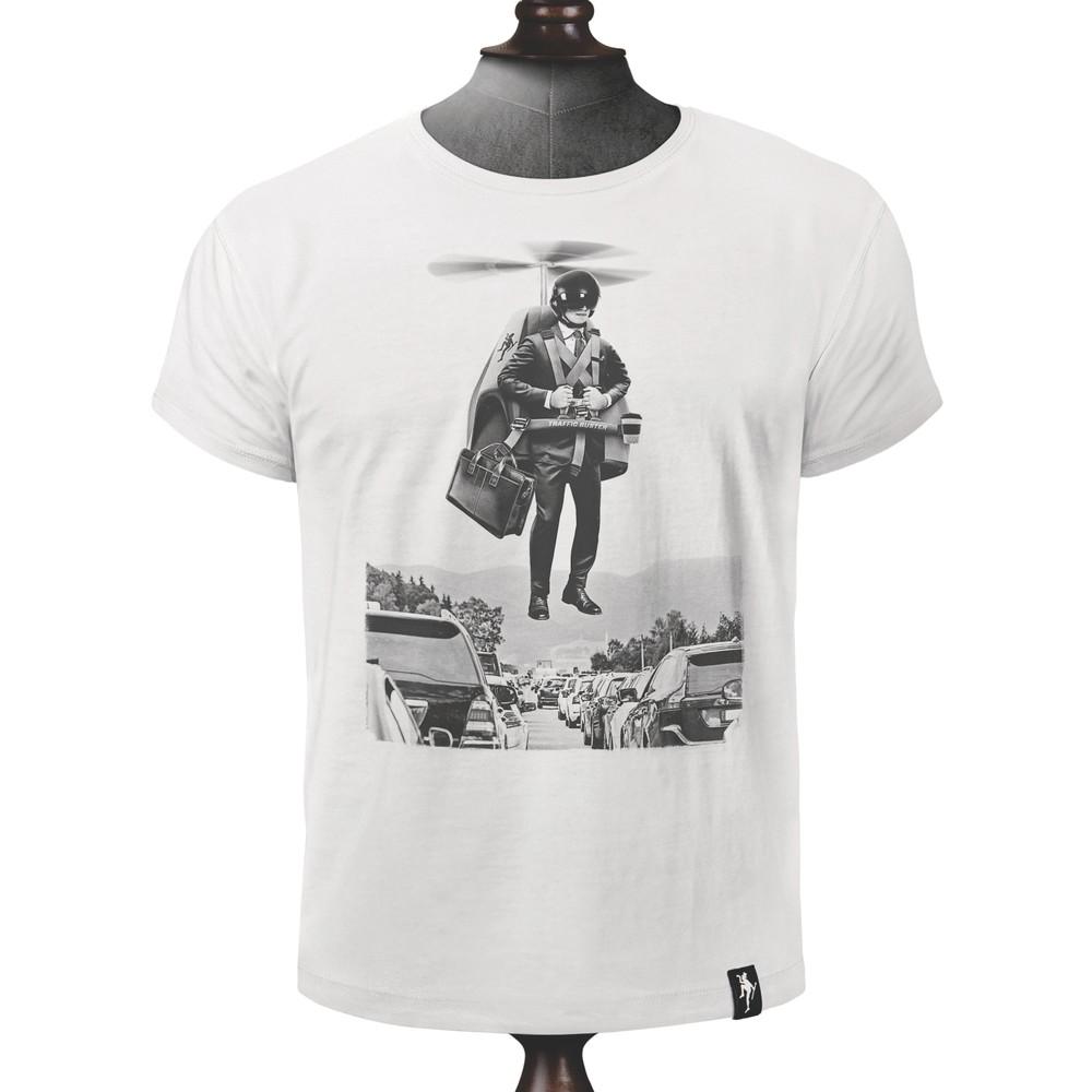 Dirty Velvet Traffic Buster T Shirt Vintage White