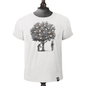 Money Tree T Shirt Vintage White