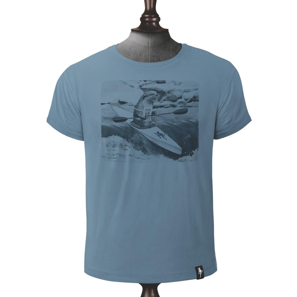 Dirty Velvet River Racer T Shirt Noble Blue