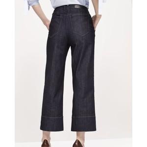 Luisa Cerano Wide Leg Crop Jeans Dark Blue