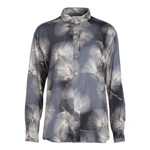 Hartford Charlot Japanese Print Shirt Grey/White/Nut