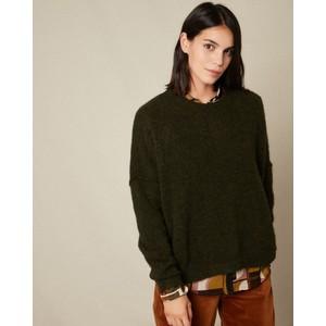Hartford Maita R/N O/Sized Jumper Dark Green