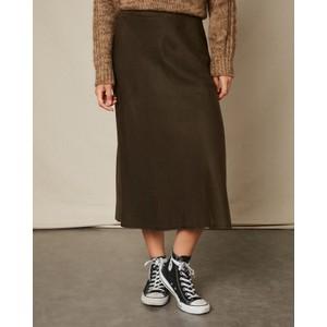 Hartford Jill Aline Midi Skirt Army