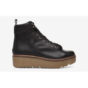 Bex L Platform Hiker Boot Black