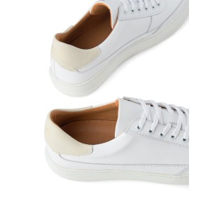 Shoe The Bear Aren L Leather Trainer White