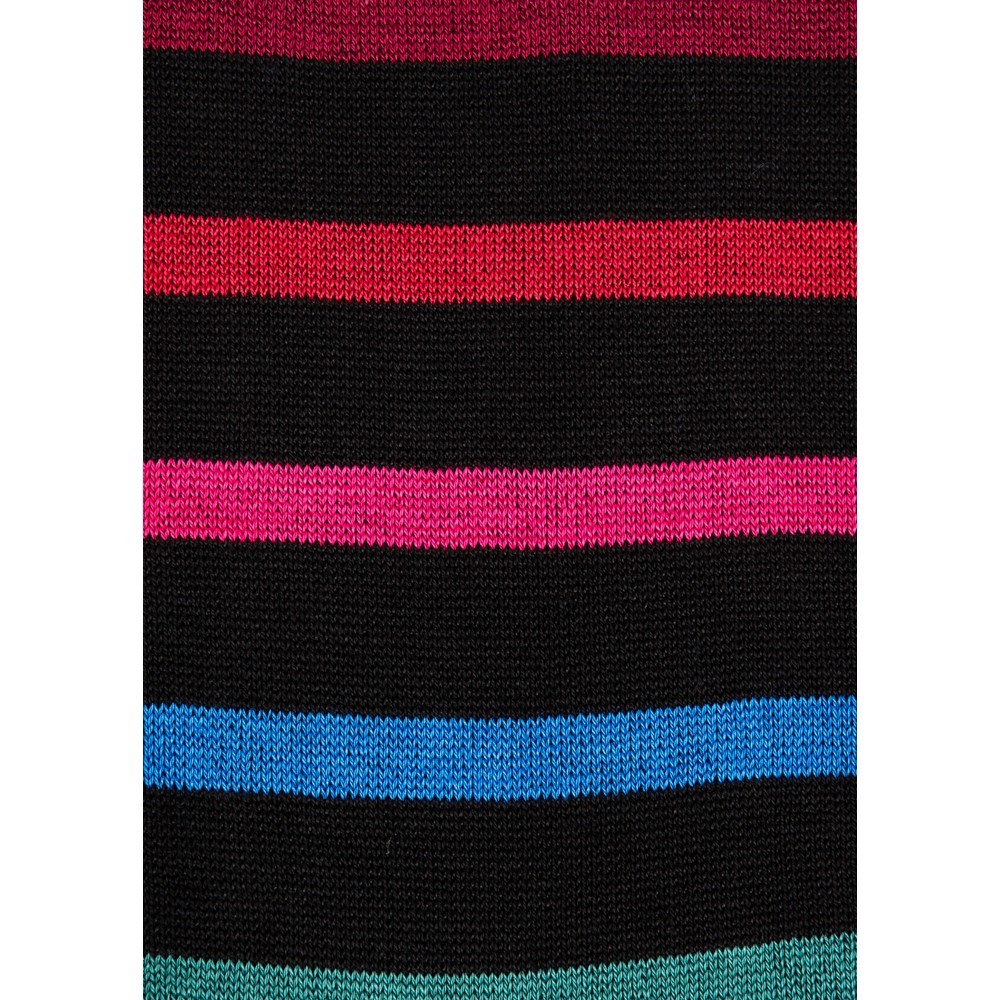 Paul Smith Accessories Percy Stripe Sock Black/Pink/Multi