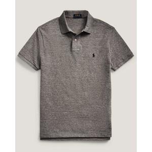 Custom Slim Fit Polo Medium Flannel Grey