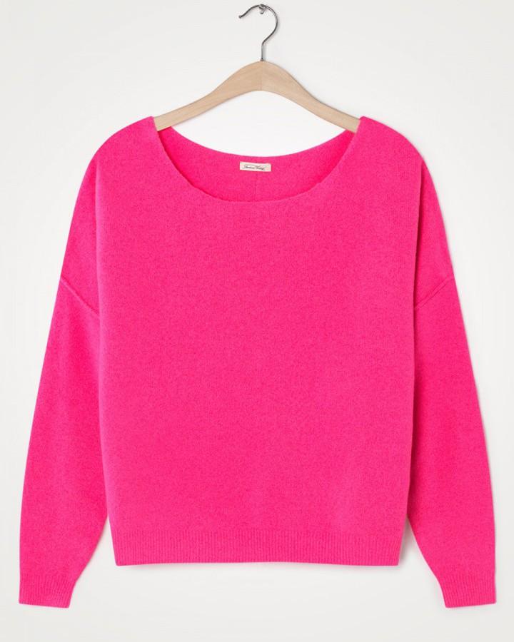 American Vintage Damsville L/S Wide Sweater Pinky