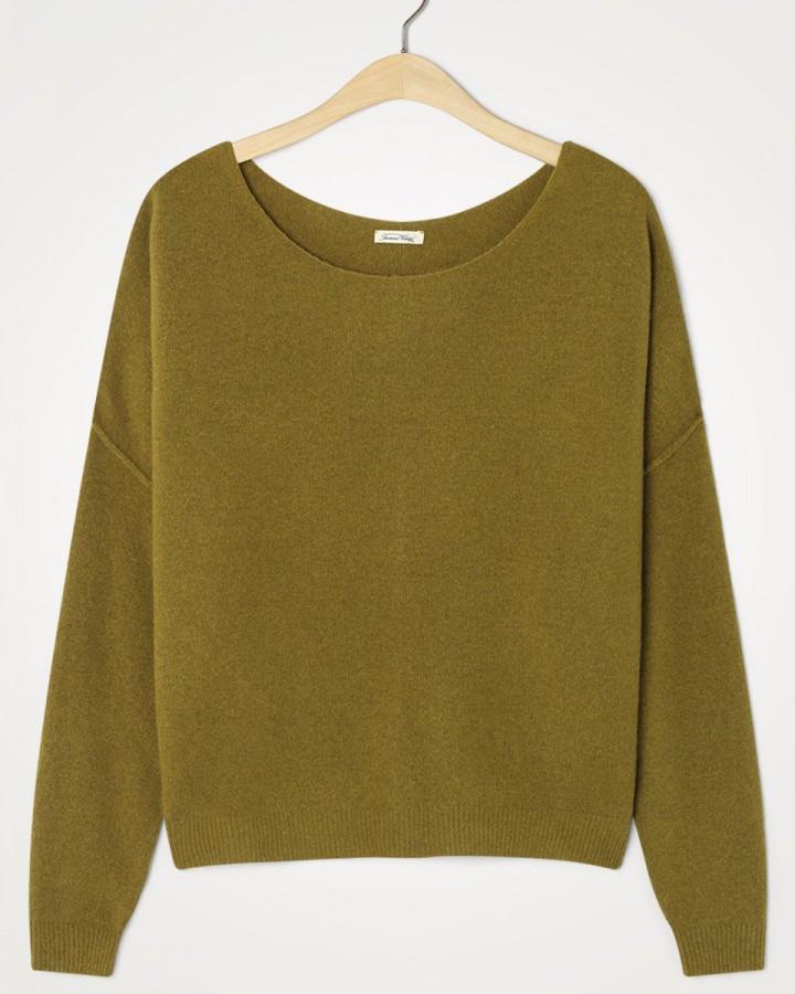 American Vintage Damsville L/S Wide Sweater Marmot