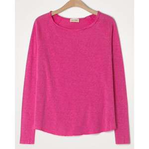 American Vintage Sonoma L/S Raw Edge Top in Vintage Pinky