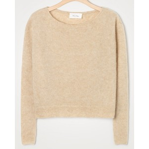 American Vintage Zabidoo Boat Neck Sweater in Sheep Melange