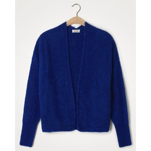 American Vintage East Chunky Knit Open Cardi in Royal Blue