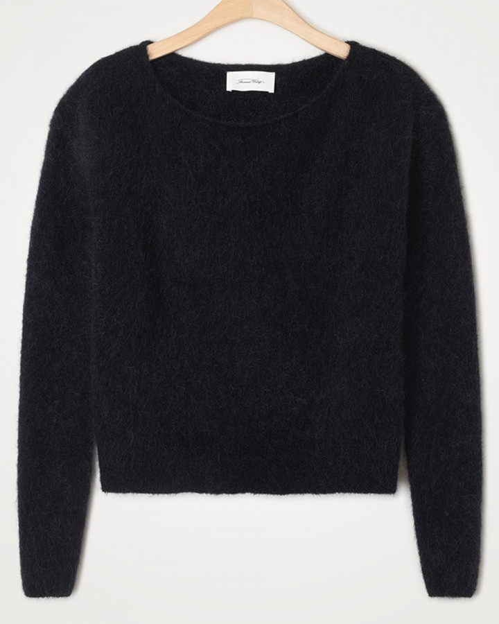 American Vintage Zabidoo Boat Neck Sweater Black