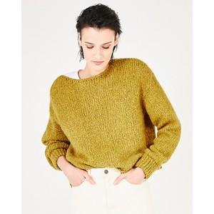 American Vintage Tudbury Chunky Knit Sweater in Mustard Melange