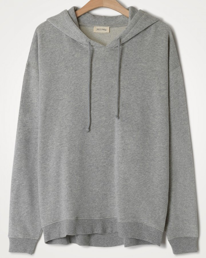 American Vintage Neaford L/S Hoodie Heather Grey