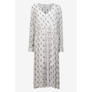 Axelle Boomerang Dress w Slip Cream/Black