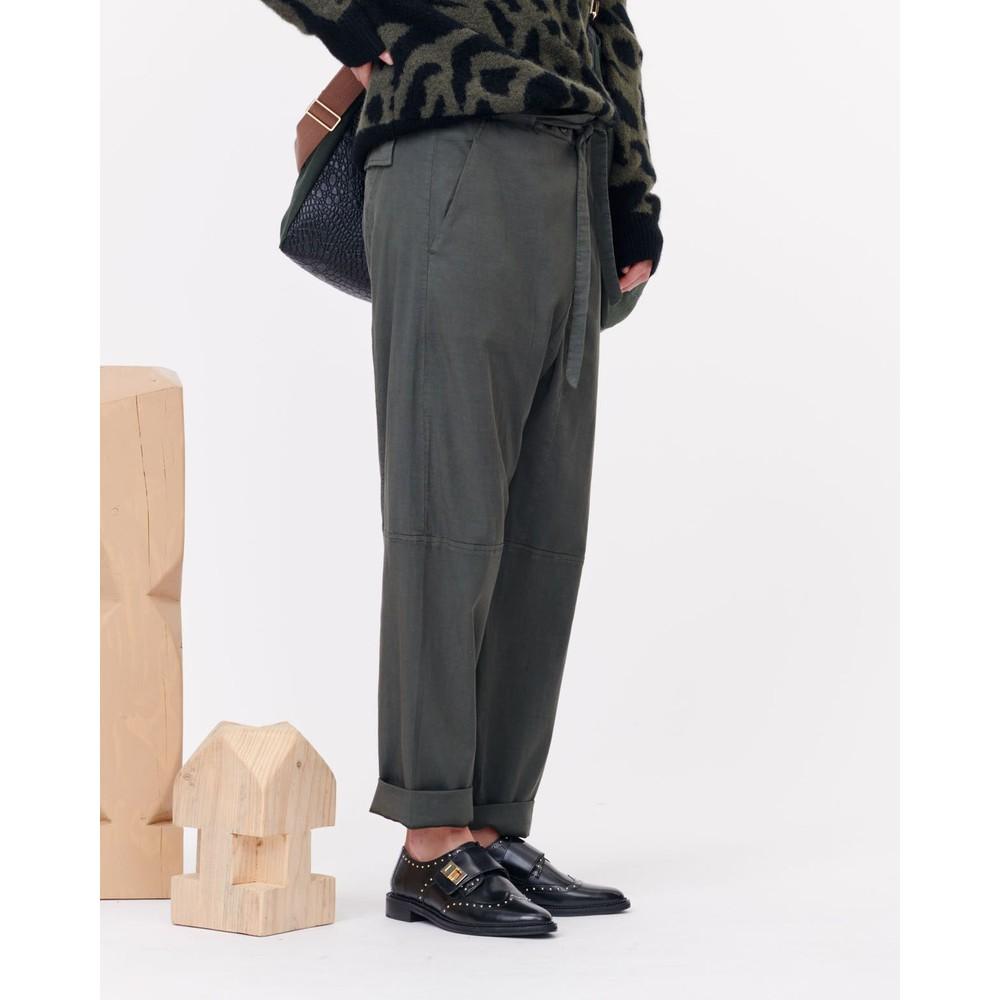 Munthe Exhibit Wrap Waist Trouser Army