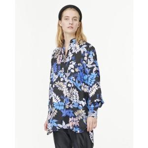 Judith Floral Shirt Tunic Indigo/Black/Multi
