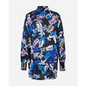 Munthe Judith Floral Shirt Tunic Indigo/Black/Multi