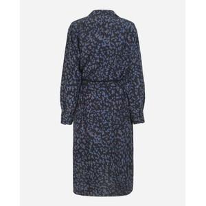 Munthe Exotic Printed Dress w Belt Dark Navy/Blue