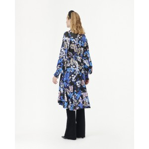 Munthe Jamie Floral Wrap Dress Indigo/Black/Multi