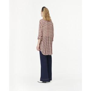 Munthe Janelle Tartan Long Shirt Beige/Red/Black
