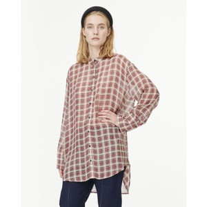 Janelle Tartan Long Shirt Beige/Red/Black