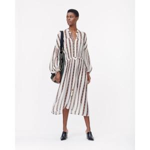 Eiden Printed Dress w Slip White/Brown