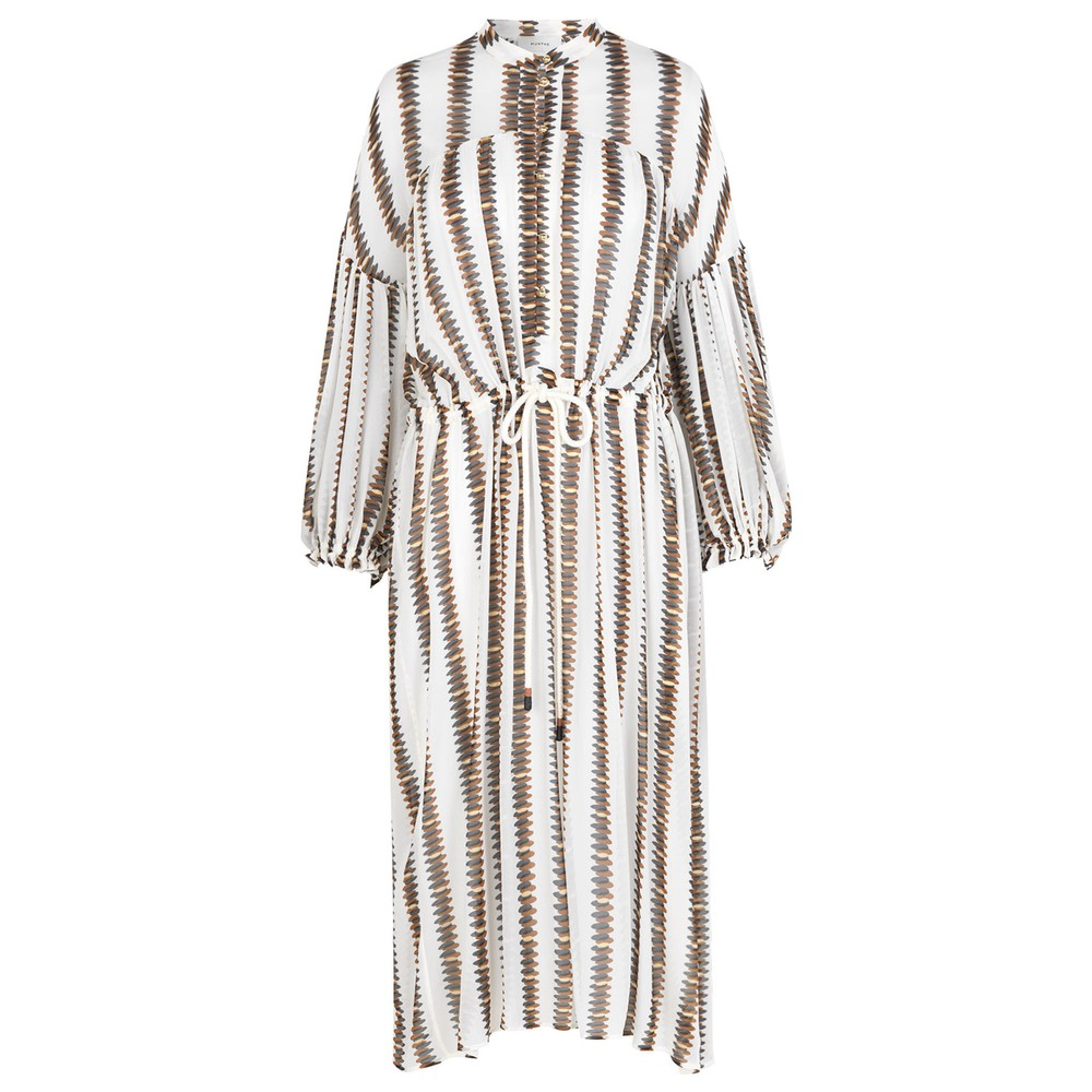 Munthe Eiden Printed Dress w Slip White/Brown
