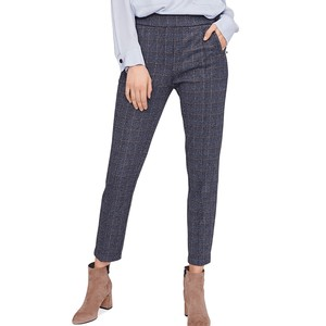 Riani Check Slim Fit Trousers Azzuro