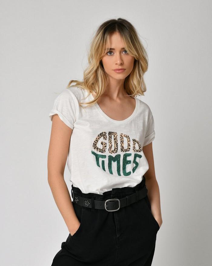 Five Good Times T Shirt Off White/Multi