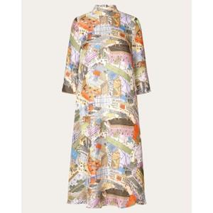 Stine Goya Dean City Print Silk Dress Multi