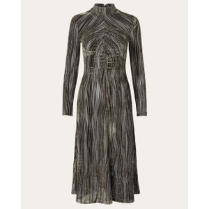 Stine Goya Asher Velvet Wave Dress Seaweed