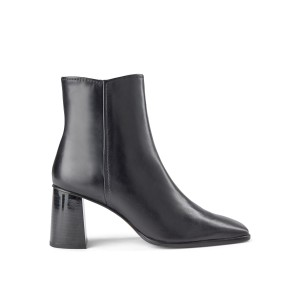 Agata Square Toe Heeled Boot Black