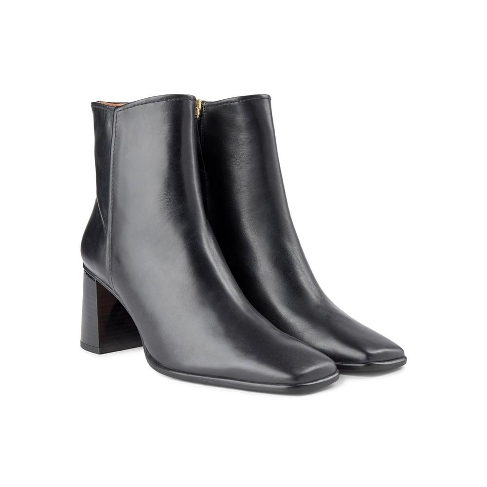 Shoe The Bear Agata Square Toe Heeled Boot Black