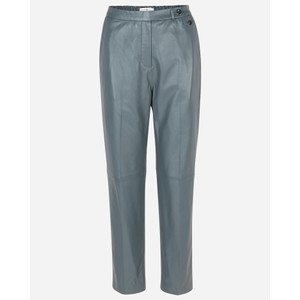 Munthe Lut Leather Tapered Trouser Granite