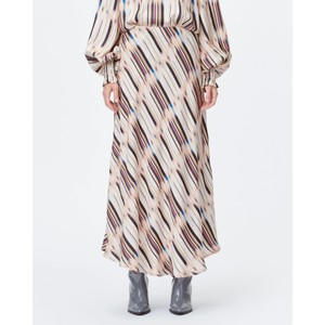 Lord A Line Printed Skirt Sand/Multi