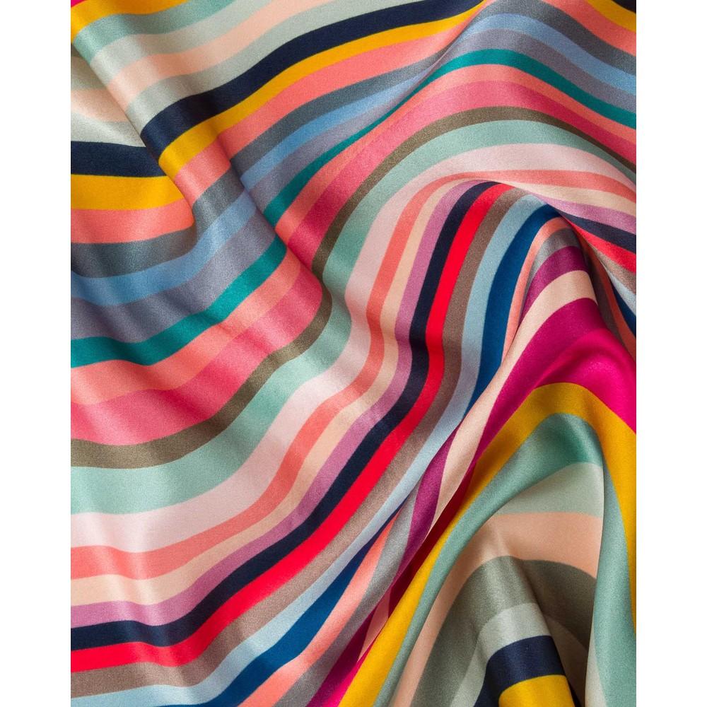 Paul Smith Accessories Long Swirl Silk Scarf Multicolour